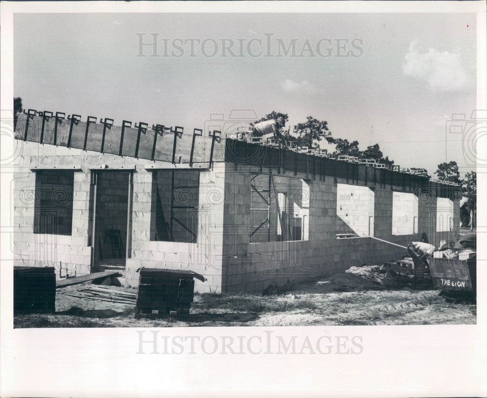 1964 St Petersburg, Florida Fire Station Construction, 28th St Press Photo - Historic Images