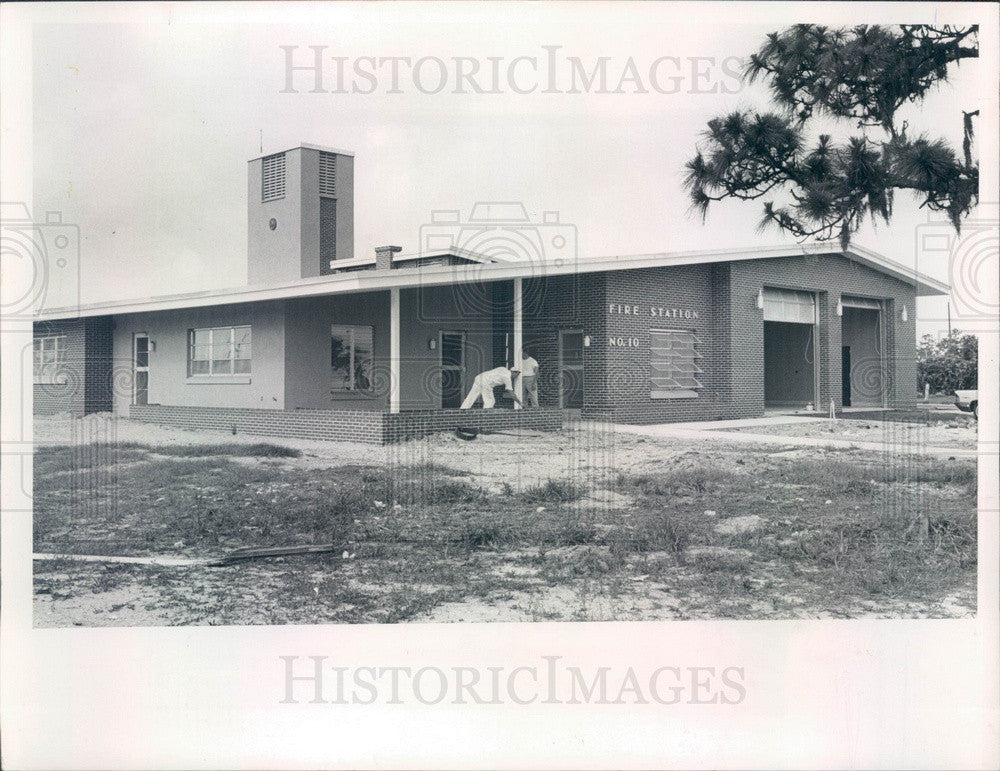 1965 St Petersburg, Florida Fire Station No 10, 28th St & 30th Ave N Press Photo - Historic Images