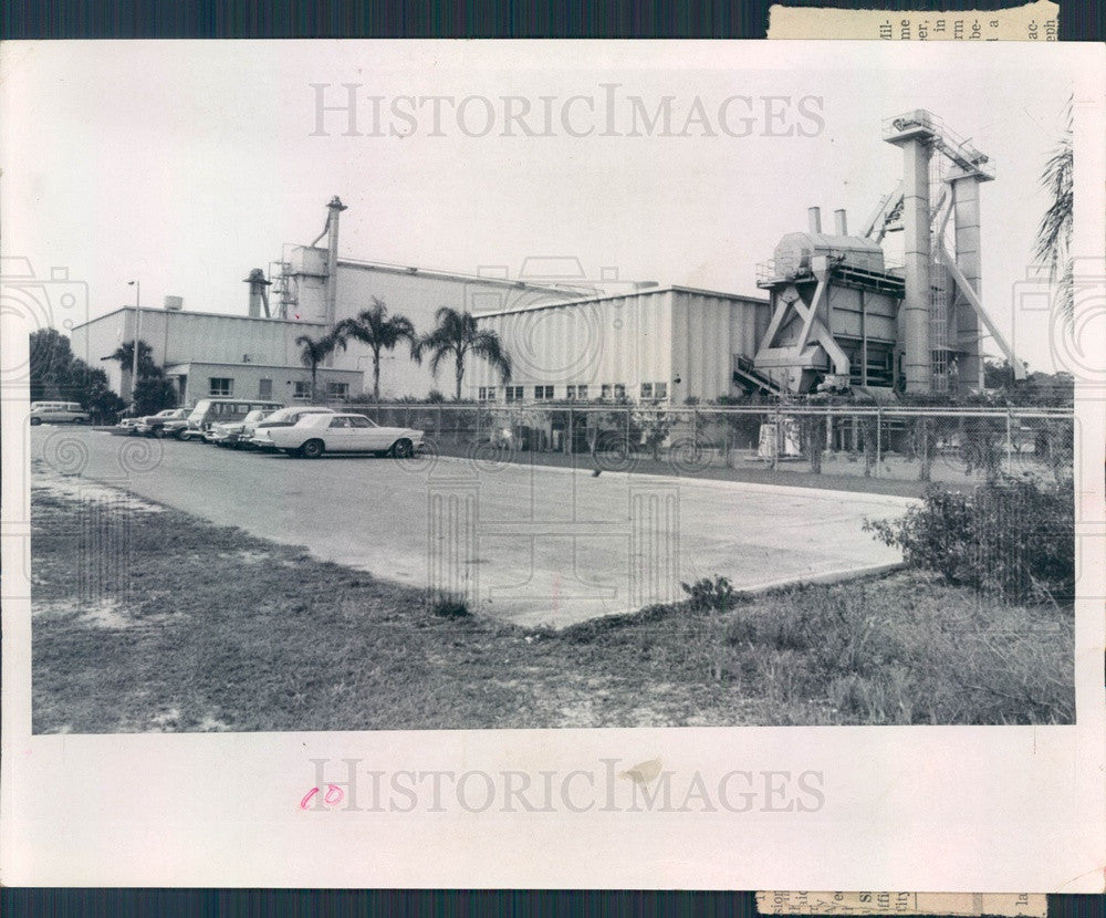 1968 St Petersburg, FL International Disposal Corp Compost Plant Press Photo - Historic Images