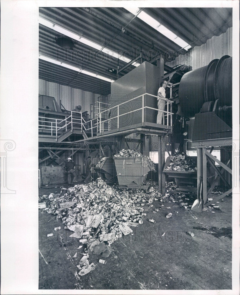 1966 St Petersburg, FL International Disposal Corp Compost Plant Press Photo - Historic Images