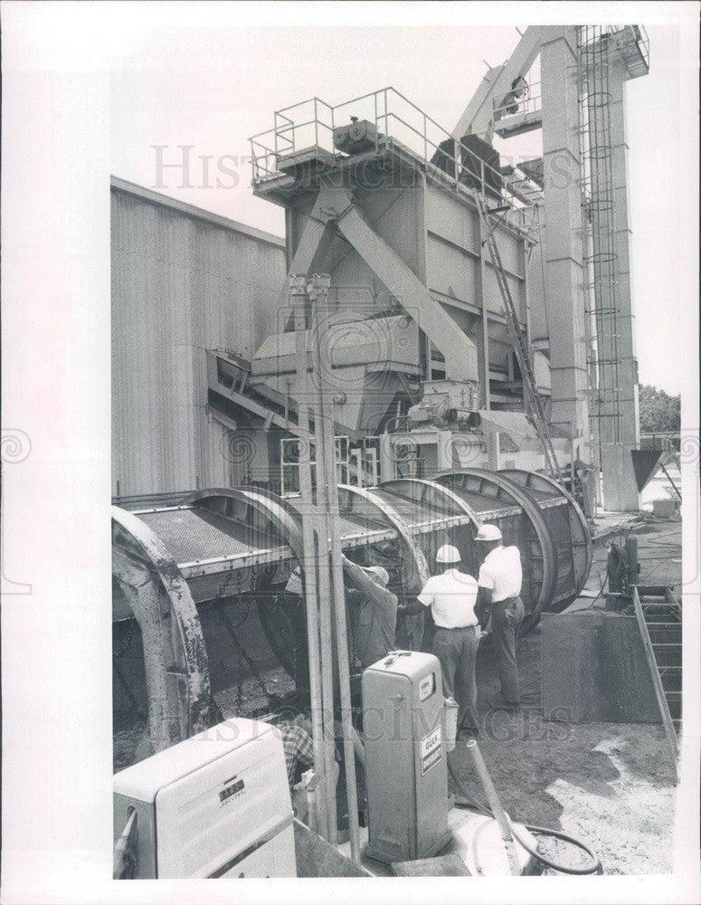 1967 St Petersburg, FL Intl Disposal Corp Compost Plant Blender Press Photo - Historic Images