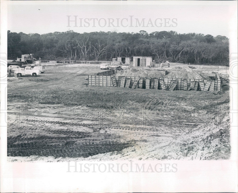 1965 St Petersburg, FL International Disposal Corp Compost Plant Press Photo - Historic Images