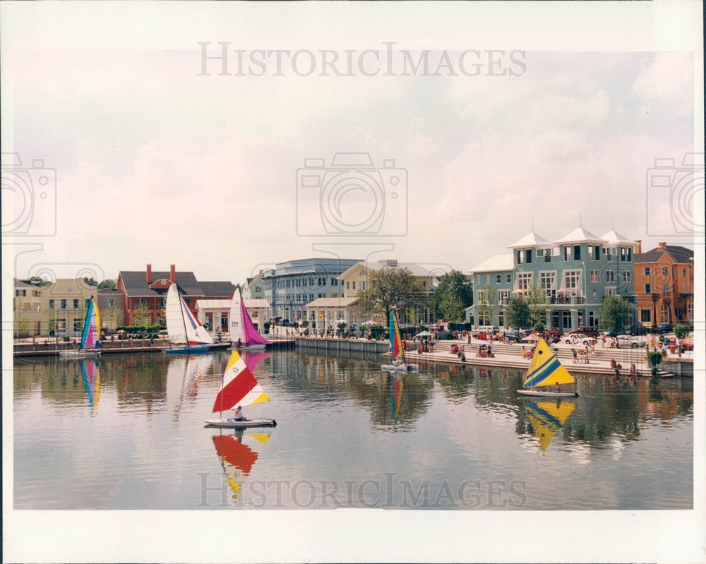 1996 Orlando, FL Walt Disney World Celebration's Lakefront Downtown Press Photo - Historic Images
