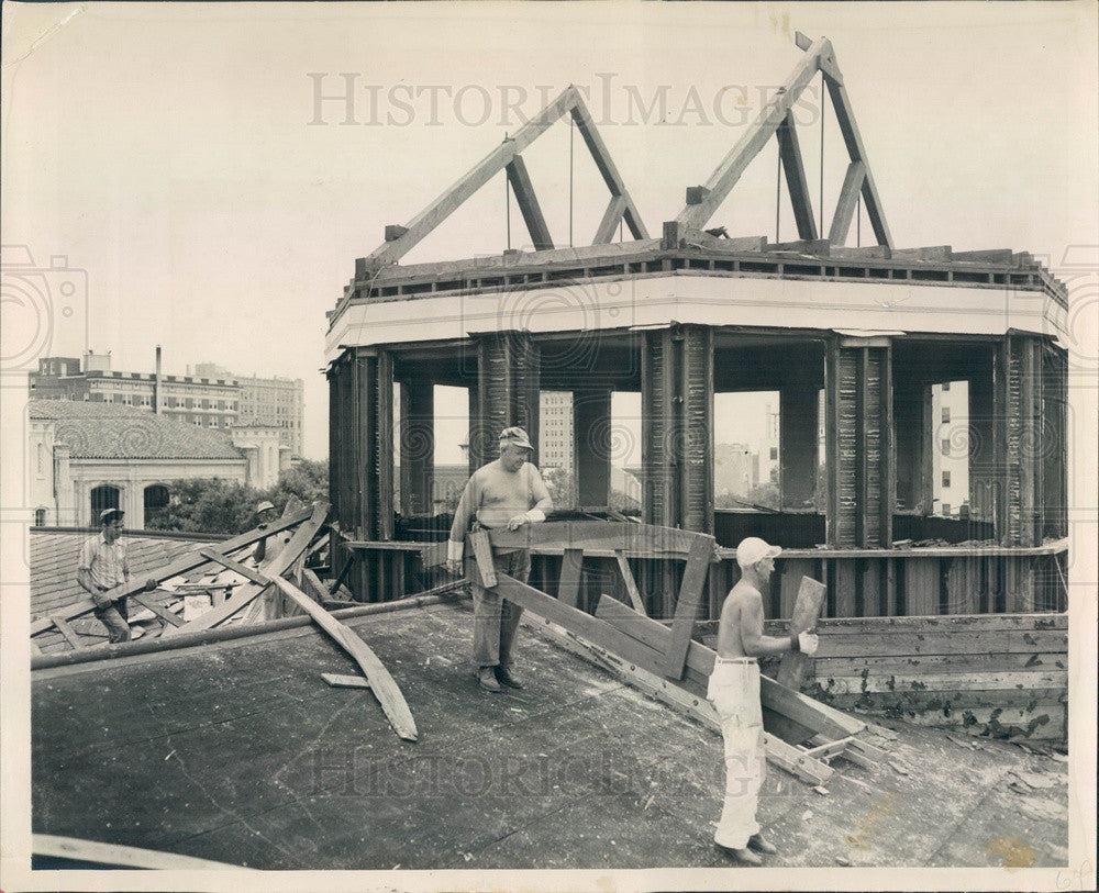 1949 St Petersburg, Florida Defense Building Demolition Press Photo - Historic Images