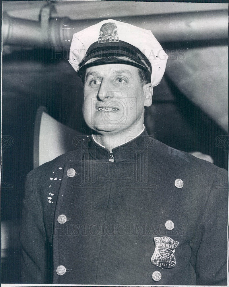 1960 Boston, MA Policeman of the Month John Chenette Press Photo - Historic Images
