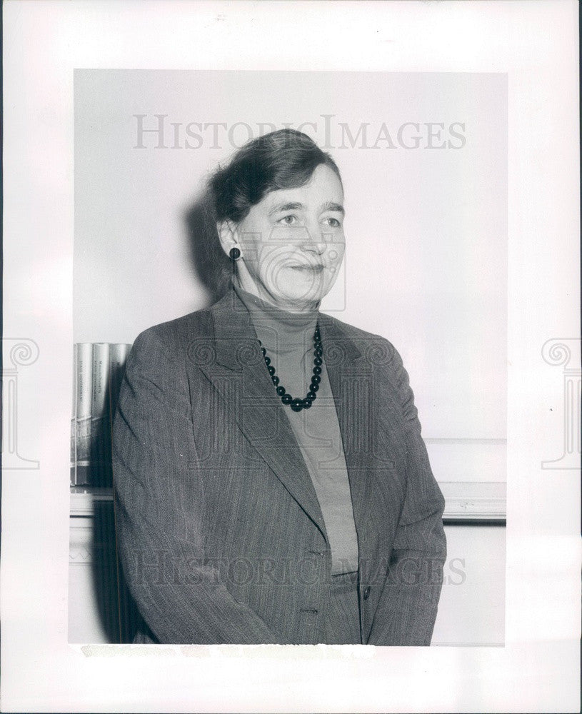 1958 Massachusetts League of Women Voters Pres Mrs Hugh McKinstry Press Photo - Historic Images