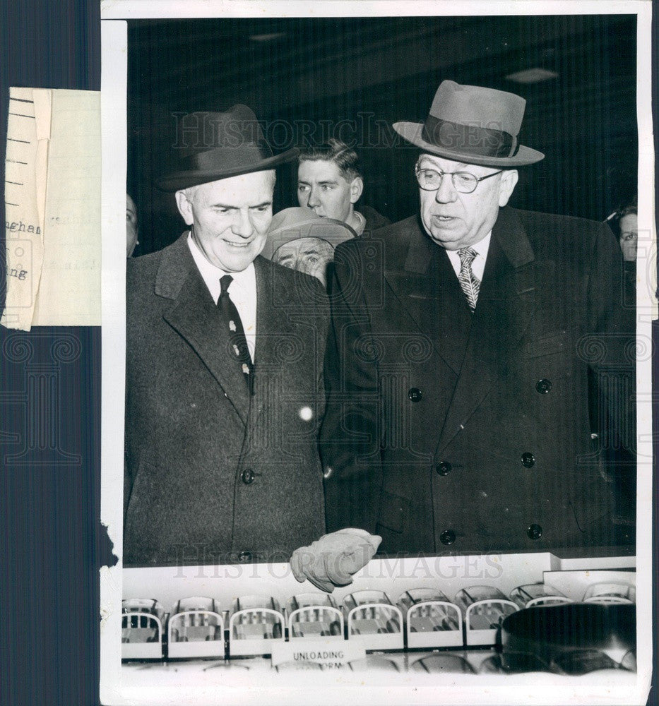 1955 New Haven Railroad President Patrick McGinnis Press Photo - Historic Images