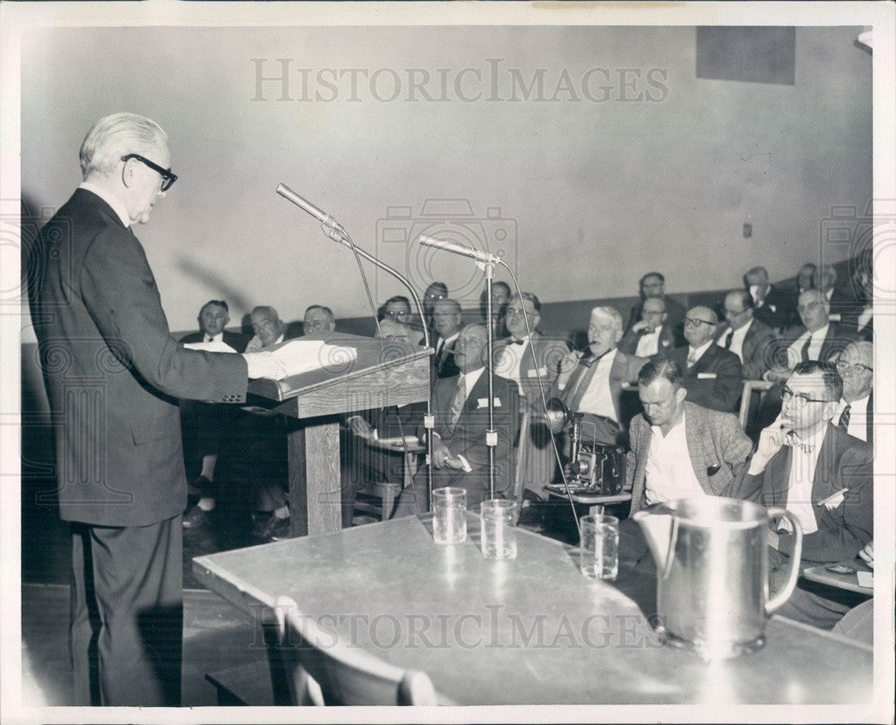 1959 Boston & Maine Railroad President Patrick McGinnis Press Photo - Historic Images