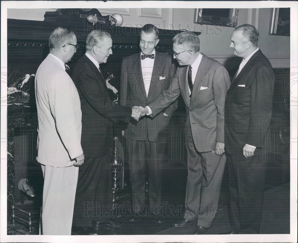 1955 New Haven Railroad President Patrick McGinnis, Loyd Kiernan Press Photo - Historic Images