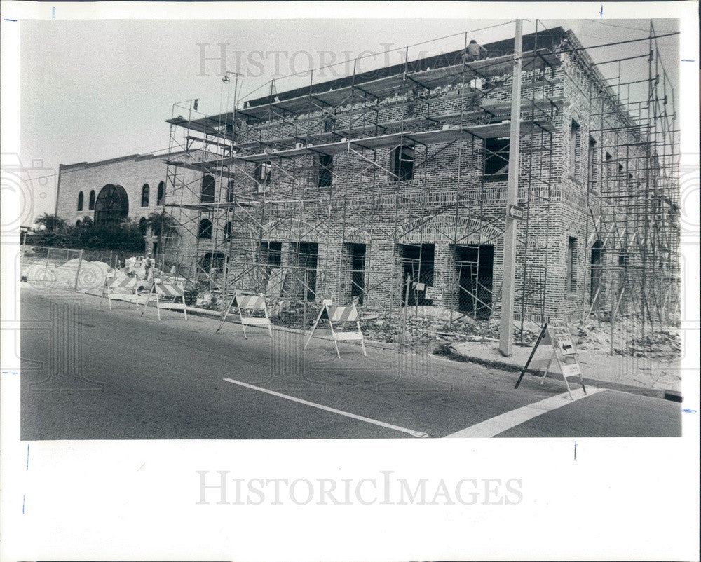 1986 St Petersburg, FL Fire Station No 1 Renovation, McNulty Station Press Photo - Historic Images