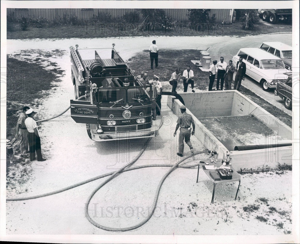 Undated St Petersburg, Florida Fire Dept Pumper Truck Press Photo - Historic Images