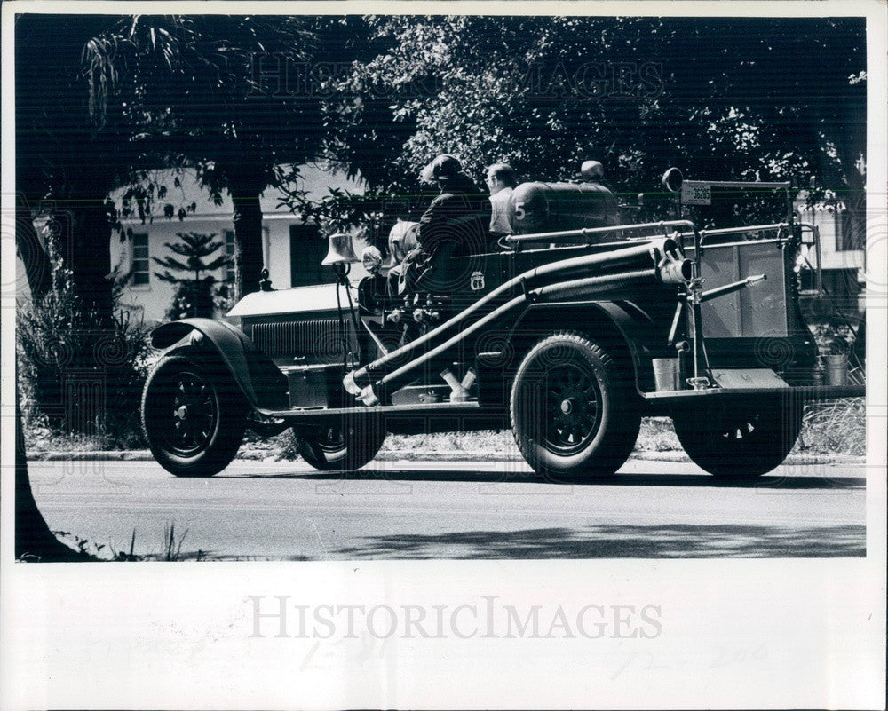 1977 Bradenton, Florida 1926 Fire Truck Press Photo - Historic Images