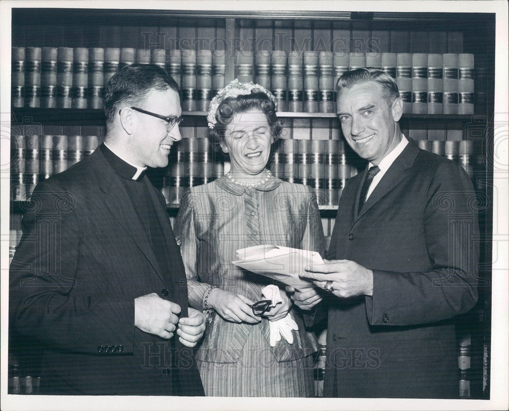 1959 Boston College Economics Dept Chairman Rev Robert McEwen Press Photo - Historic Images