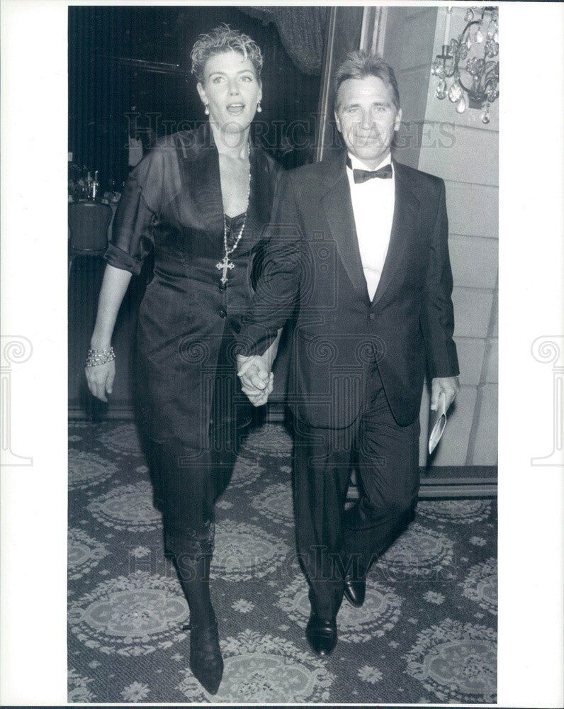 1989 Actress Kelly McGillis & Husband Fred Tillman Press Photo - Historic Images