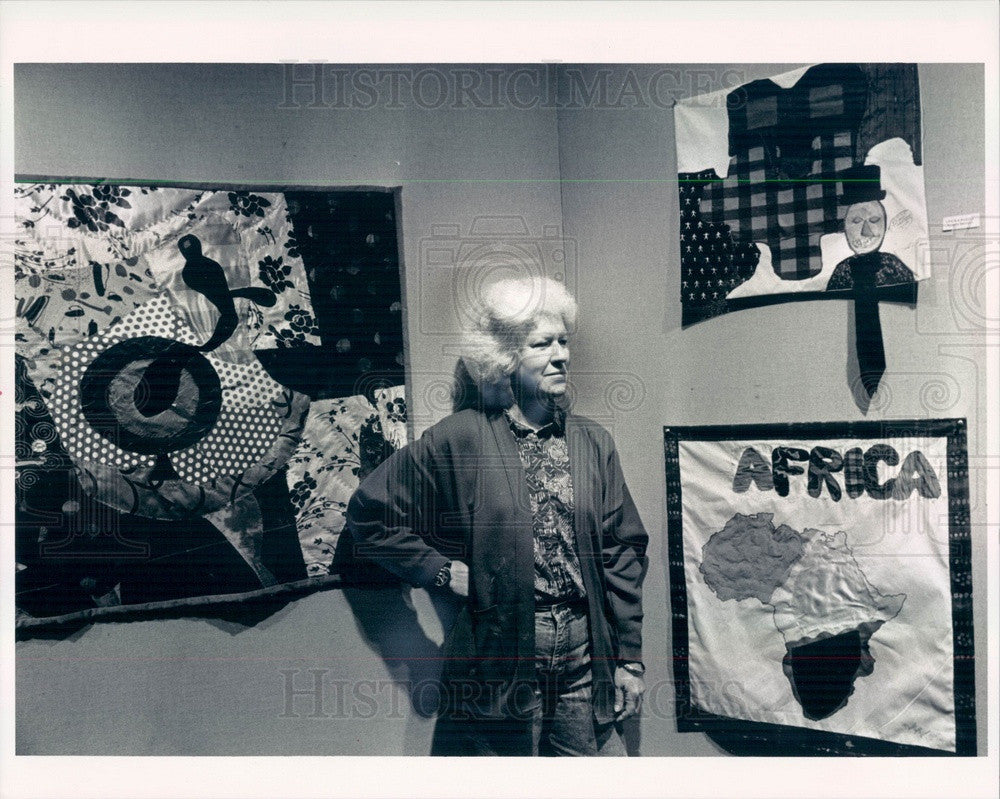 1992 Quilt Artist Clara Wainwright Press Photo - Historic Images
