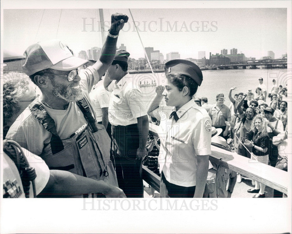 1992 Boston, MA Around the World Sailor William Pinkney Press Photo - Historic Images