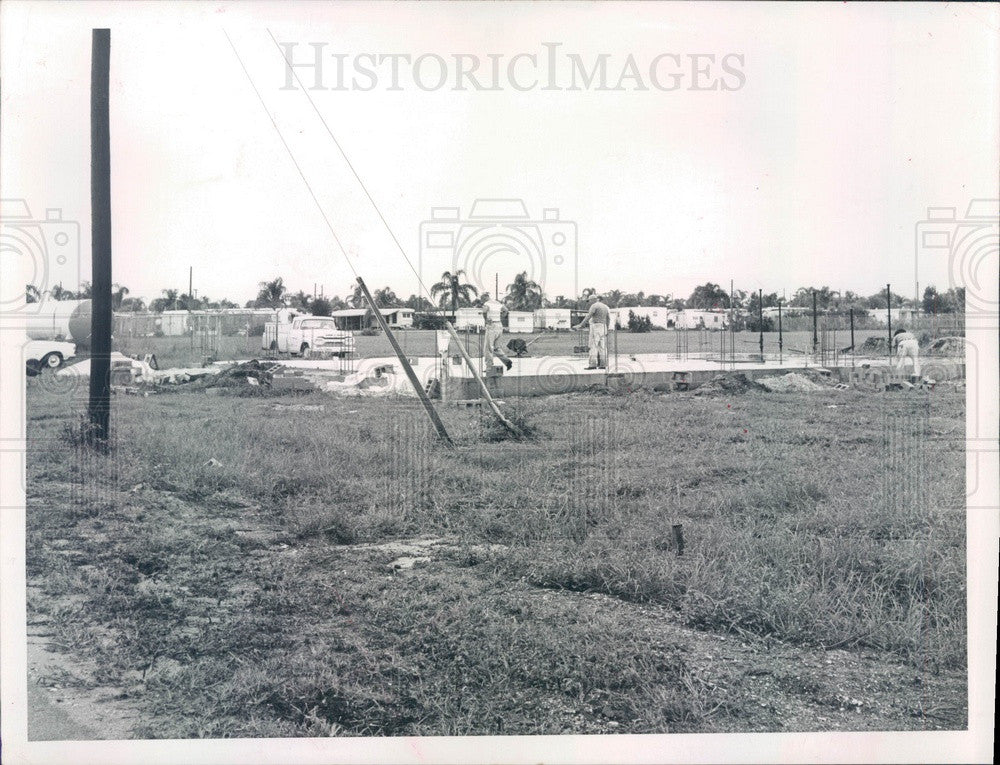 1964 Bradenton, FL Trailer Estates Fire District Station Foundation Press Photo - Historic Images