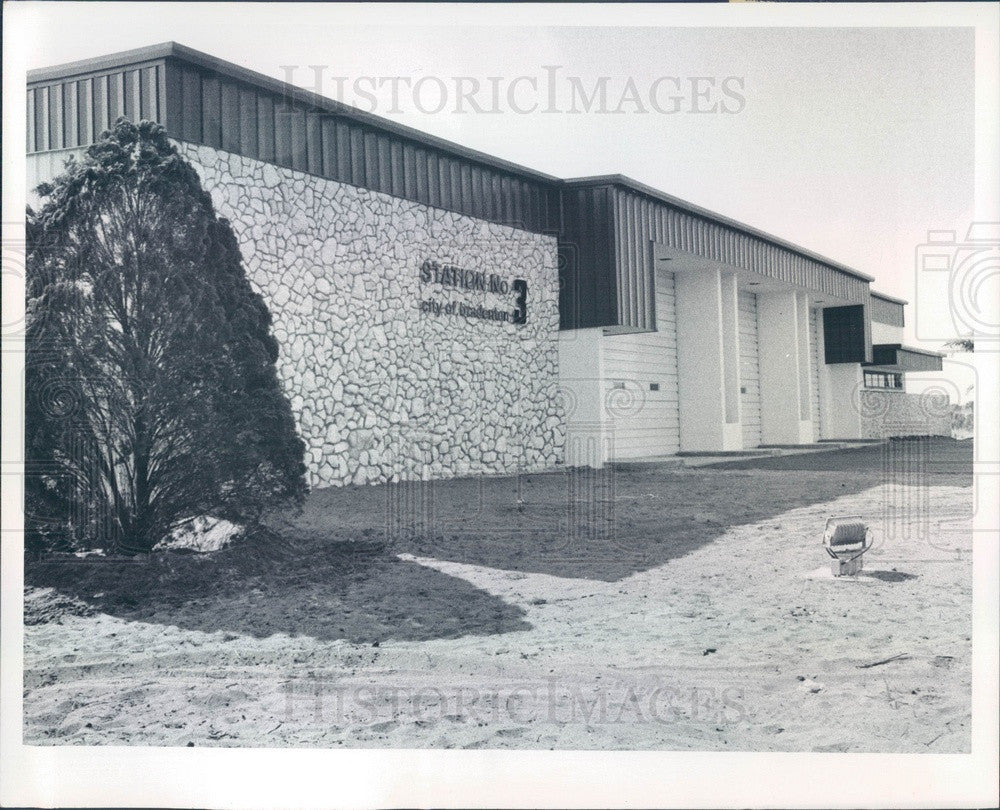 1976 Bradenton, Florida Fire Station No 3, 59th Street West Press Photo - Historic Images