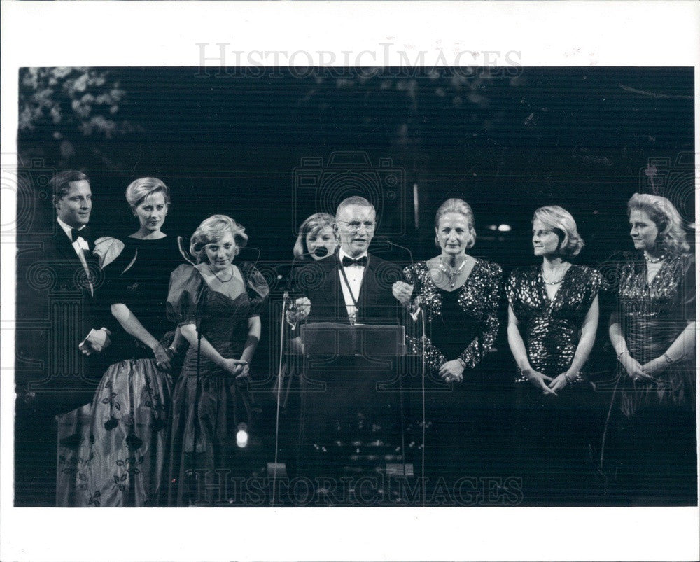 1986 US Presidential Candidate, Businessman Ross Perot & Family Press Photo - Historic Images