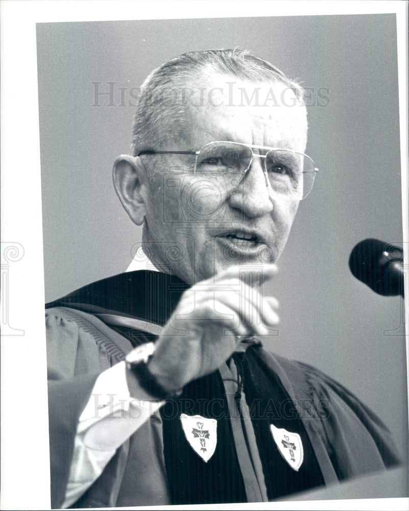 1994 US Presidential Candidate, Businessman Ross Perot Press Photo - Historic Images