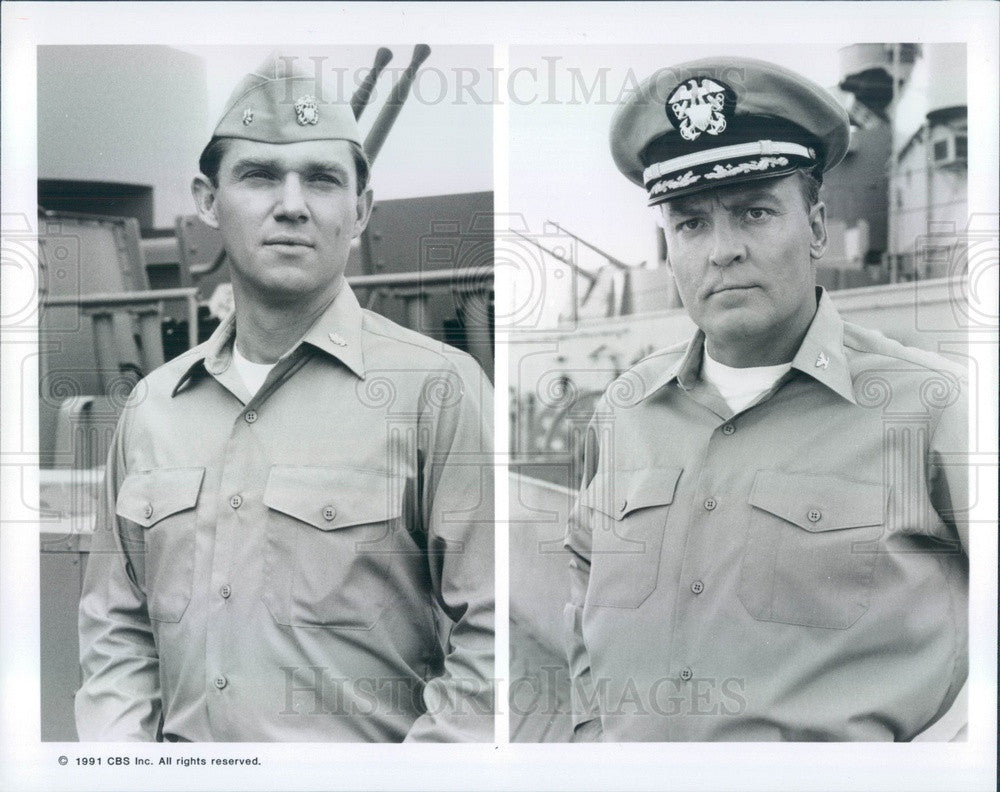 1991 Actors Richard Thomas/Stacy Keach in Mission of the Shark Press Photo - Historic Images