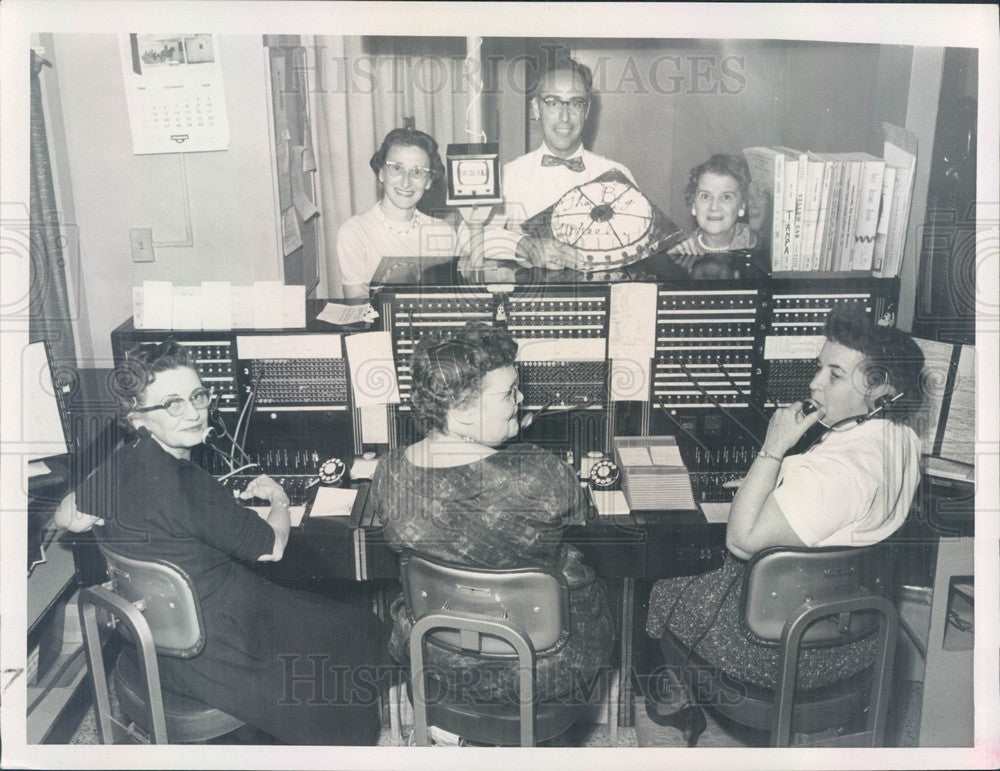 1960 St Petersburg, Florida Times Switchboard Operators Press Photo - Historic Images