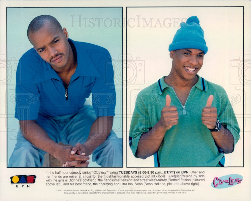 Undated Hollywood Actors Donald Faison/Sean Holland TV Show Clueless Press Photo - Historic Images