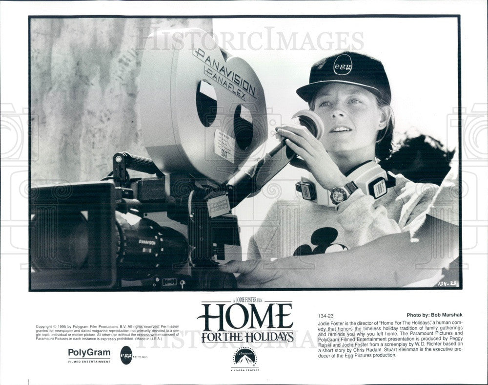 1995 Hollywood Director Jodie Foster in Home For The Holidays Press Photo - Historic Images