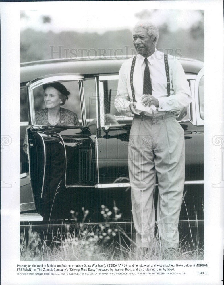 1996 Actors Jessica Tandy & Morgan Freeman in Driving Miss Daisy Press Photo - Historic Images