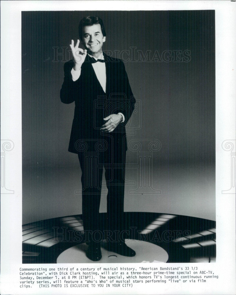 Undated TV & Radio Personality Dick Clark on American Banstand Press Photo - Historic Images