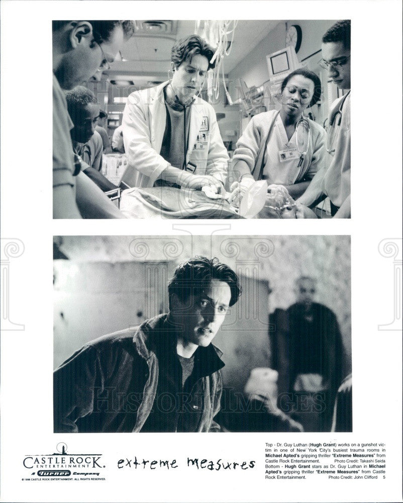 1996 English Hollywood Actor/Producer Hugh Grant in Extreme Measures Press Photo - Historic Images
