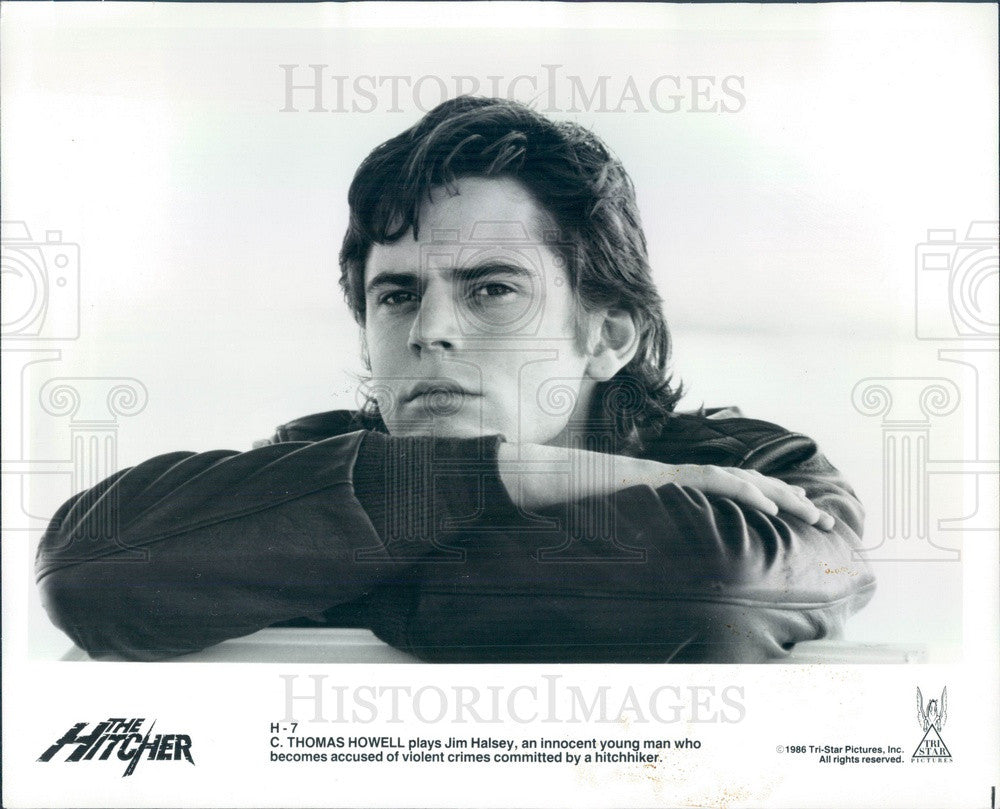 1986 Hollywood Actor C Thomas Howell in The Hitcher Press Photo - Historic Images