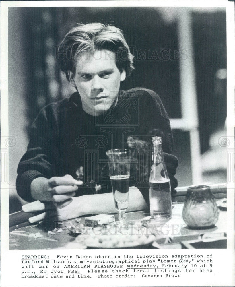 1988 American Hollywood Actor Kevin Bacon in Lemon Sky Press Photo - Historic Images