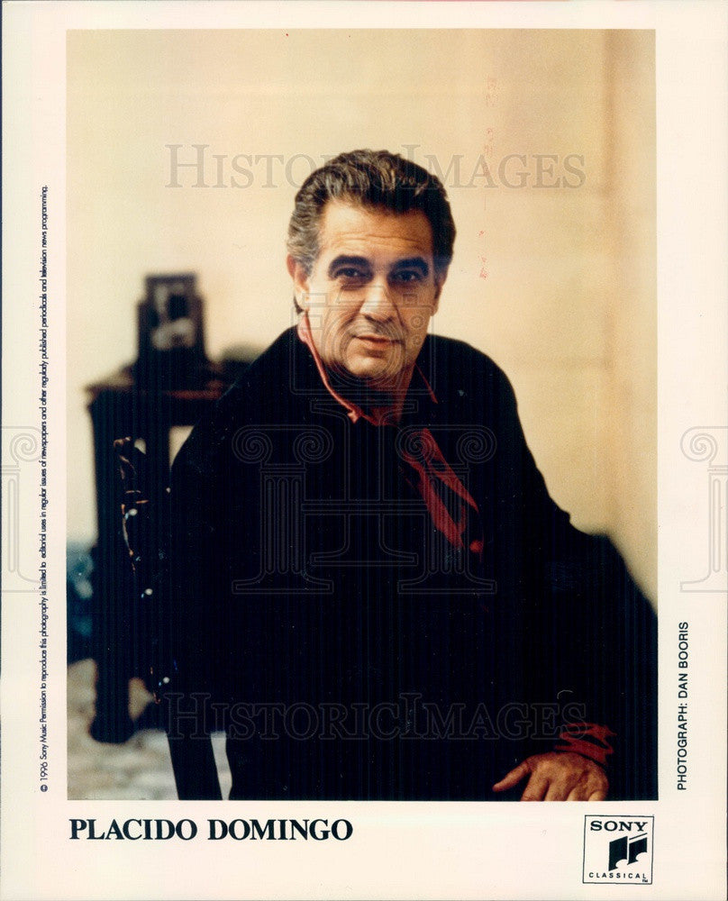 1996 Spanish Singer/Conductor Placido Domingo Press Photo - Historic Images