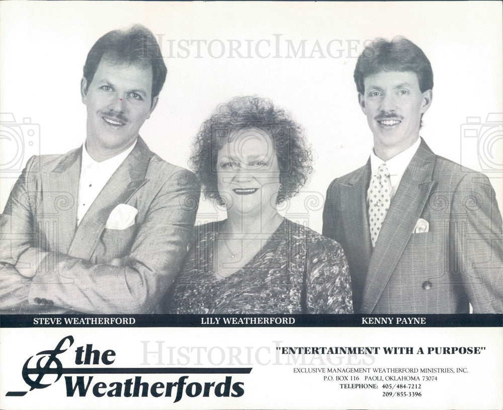 1994 American Gospel Music Group The Weatherfords Press Photo - Historic Images