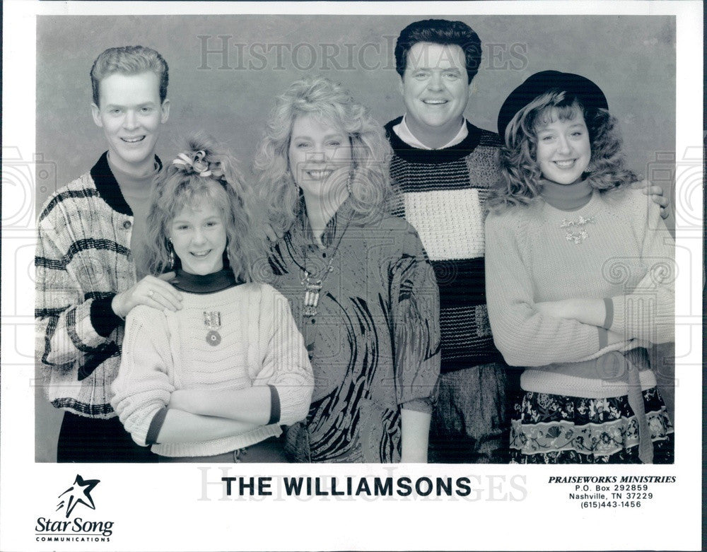 1990 Gospel Music Group The Williamsons Press Photo - Historic Images