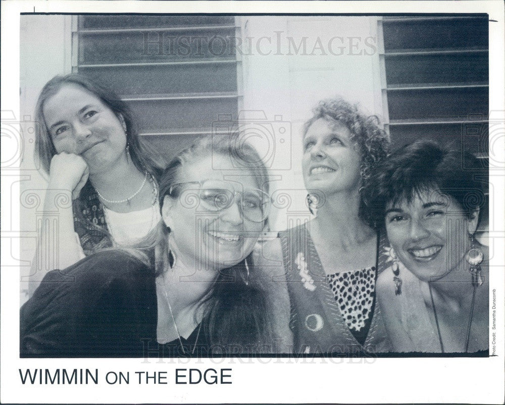 1993 Music Group Wimmin On The Edge Press Photo - Historic Images