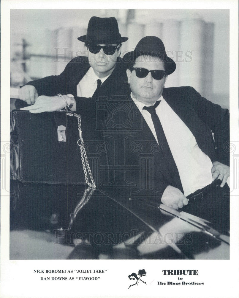 1991 Music Group Tribute The Blues Brothers Nick Boromei & Dan Downs Press Photo - Historic Images