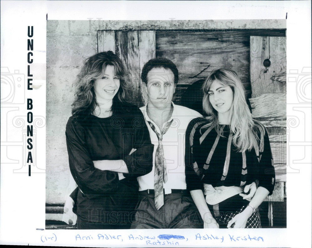 1987 American Folk Music Trio Uncle Bonsai Press Photo - Historic Images
