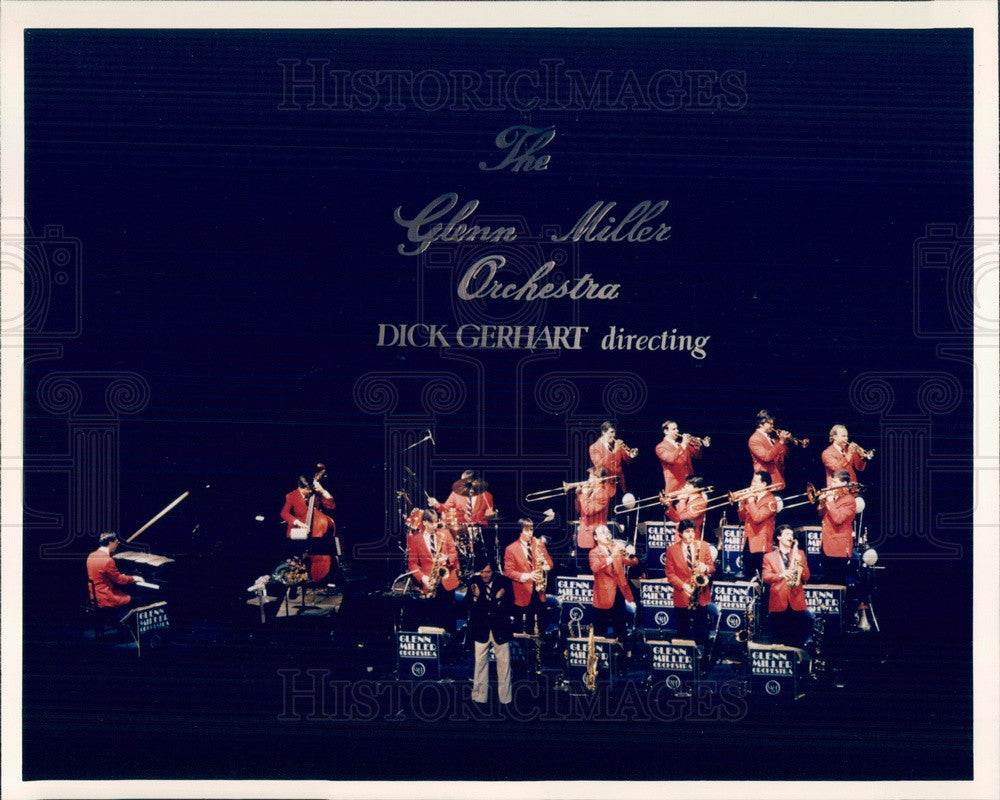 1986 Music Group The Glenn Miller Orchestra Press Photo - Historic Images