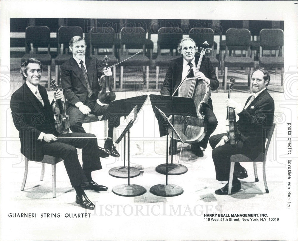 1986 American Music Group The Guarneri String Quartet Press Photo - Historic Images