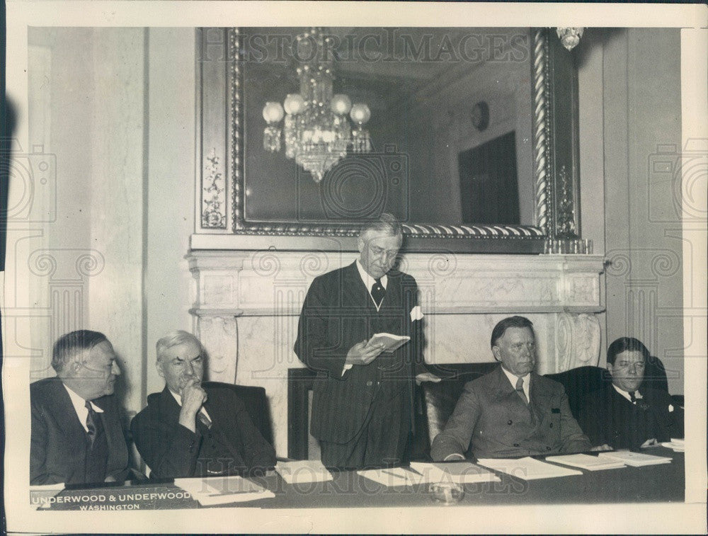 1932 US Senate Foreign Relations Committee, Wagner, Walsh, Eyck Press Photo - Historic Images