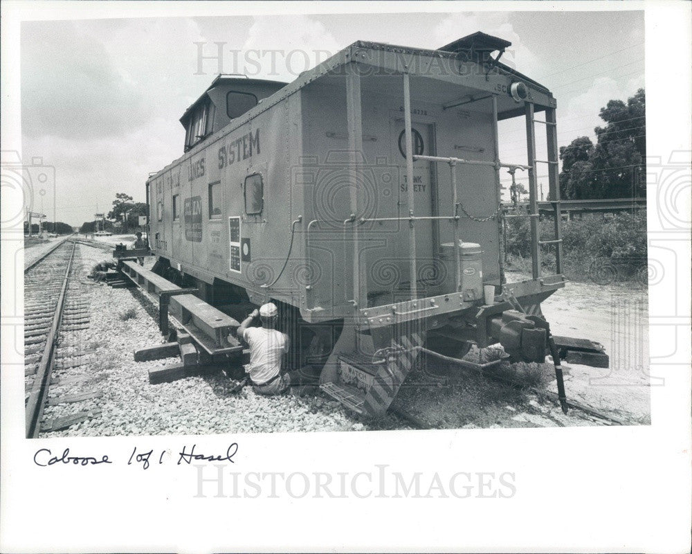 1983 Largo, Florida Seaboard Coast Line Caboose at Heritage Park Press Photo - Historic Images