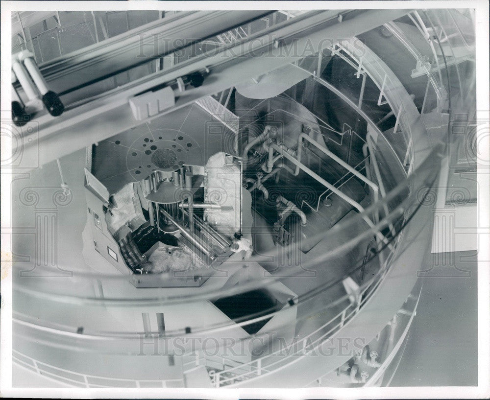 1955 Chicago, IL Argonne National Laboratory Research Reactor CP-5 Press Photo - Historic Images