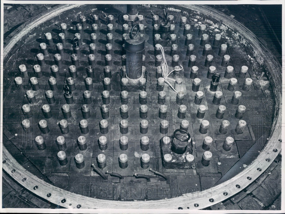 Undated Chicago, IL Argonne National Lab Heavy Water Reactor Core Press Photo - Historic Images