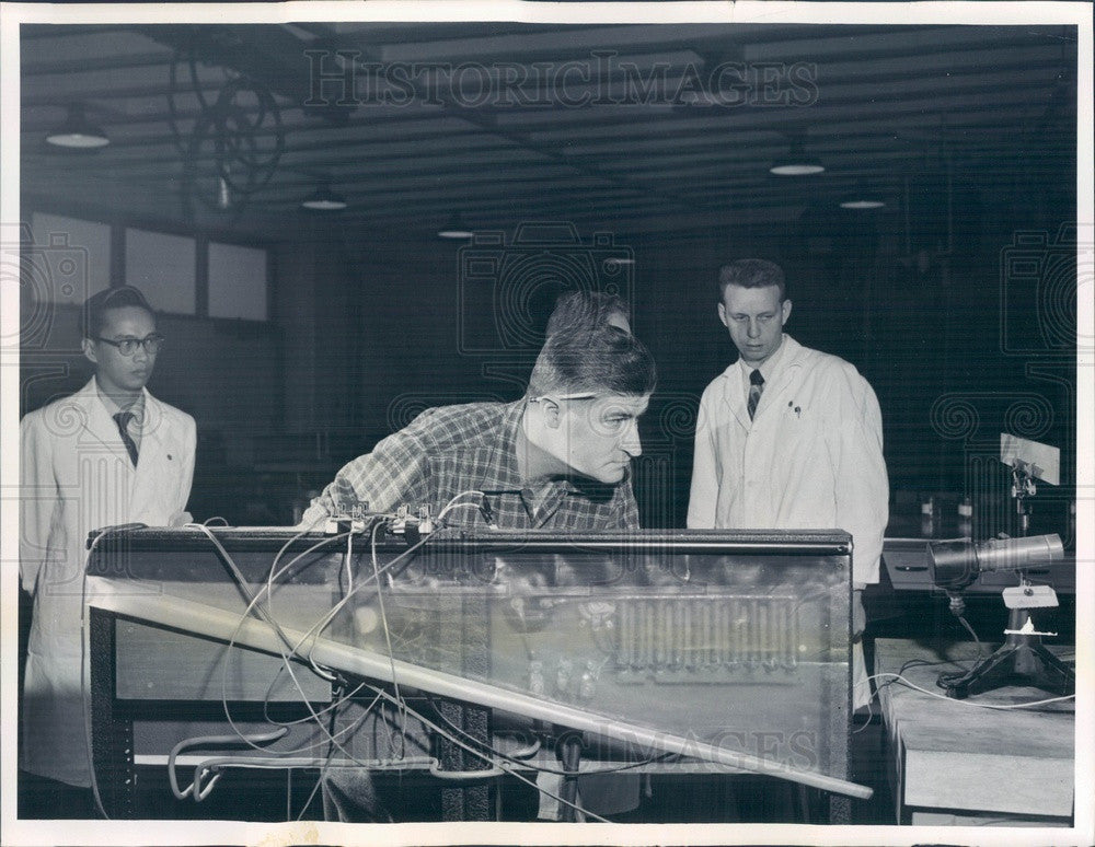 1956 Chicago, Illinois Argonne National Laboratory Researchers Press Photo - Historic Images