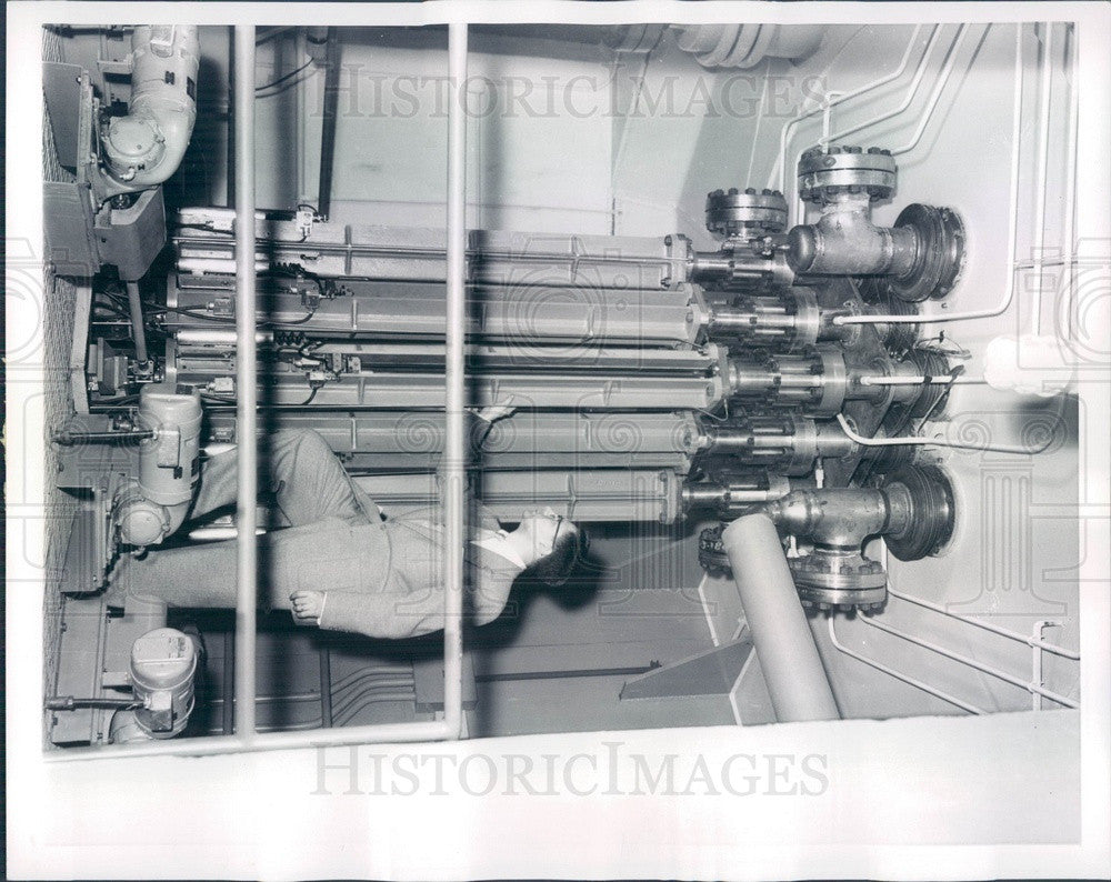 1957 Chicago, IL Argonne Natl Lab Experimental Boiling Water Reactor Press Photo - Historic Images