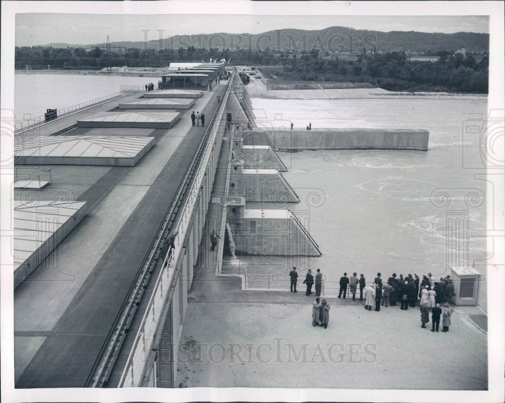 1954 Simbach, Germany Simbach-Braunau Power Plant Press Photo - Historic Images