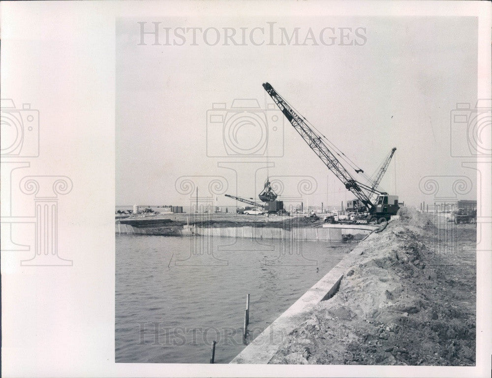 1968 Clearwater FL Seminole St Park Boat Launching Area Construction Press Photo - Historic Images