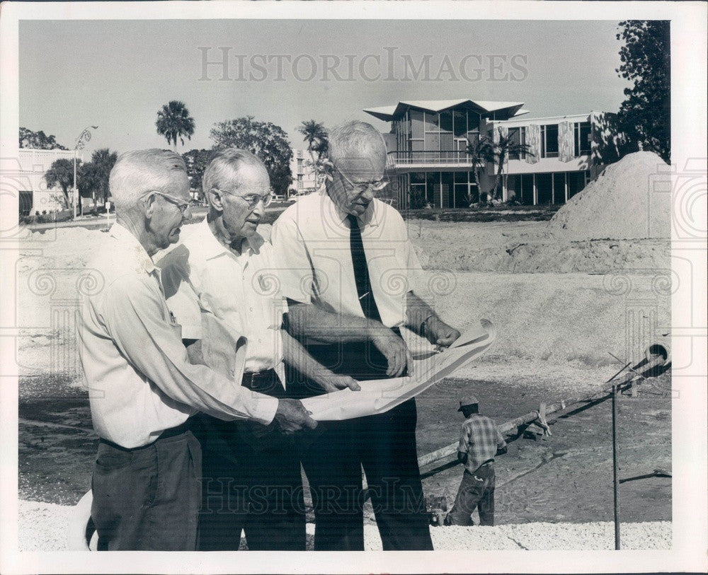 1965 Clearwater, Florida Downtown Park Construction Press Photo - Historic Images